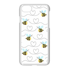 Wasp Bee Fly Yellow Black Blue Hanny Love Apple Iphone 7 Seamless Case (white) by Jojostore