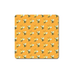 Wasp Bee Hanny Yellow Fly Animals Square Magnet by Jojostore