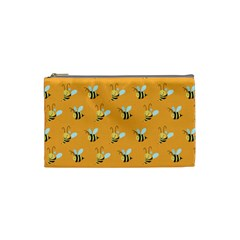Wasp Bee Hanny Yellow Fly Animals Cosmetic Bag (small)