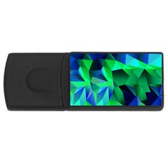 Galaxy Chevron Wave Woven Fabric Color Blu Green Triangle Usb Flash Drive Rectangular (4 Gb) by Jojostore