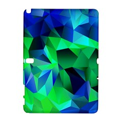 Galaxy Chevron Wave Woven Fabric Color Blu Green Triangle Galaxy Note 1 by Jojostore