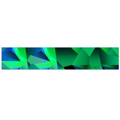 Galaxy Chevron Wave Woven Fabric Color Blu Green Triangle Flano Scarf (large)