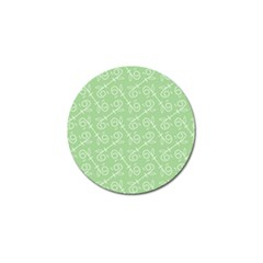 Formula Leaf Floral Green Golf Ball Marker (10 Pack) by Jojostore