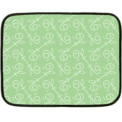 Formula Leaf Floral Green Double Sided Fleece Blanket (mini)  by Jojostore
