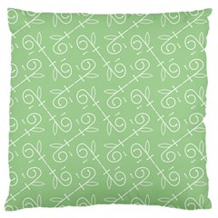 Formula Leaf Floral Green Large Cushion Case (two Sides) by Jojostore