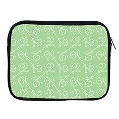 Formula Leaf Floral Green Apple Ipad 2/3/4 Zipper Cases by Jojostore