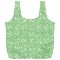 Formula Leaf Floral Green Full Print Recycle Bags (l)  by Jojostore