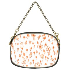 Flower Floral Tulip Orange Chain Purses (one Side)