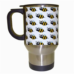 Wasp Bee Eye Fly Line Animals Travel Mugs (white) by Jojostore