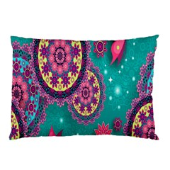 Vintage Butterfly Floral Flower Rose Star Purple Pink Green Yellow Animals Fly Pillow Case
