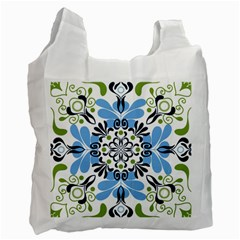 Flower Floral Jpeg Recycle Bag (one Side)