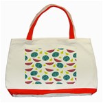 Summer Fruit Watermelon Water Guava Onions Classic Tote Bag (Red) Front