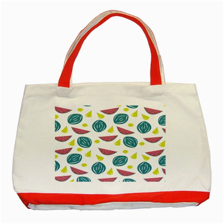 Summer Fruit Watermelon Water Guava Onions Classic Tote Bag (Red)