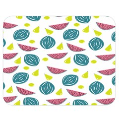 Summer Fruit Watermelon Water Guava Onions Double Sided Flano Blanket (medium)