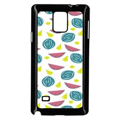 Summer Fruit Watermelon Water Guava Onions Samsung Galaxy Note 4 Case (black)