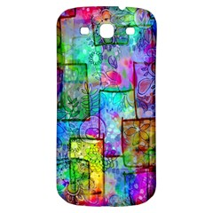 Rainbow Floral Doodle Samsung Galaxy S3 S Iii Classic Hardshell Back Case by KirstenStar