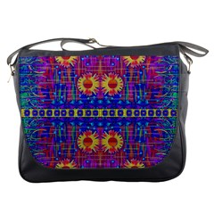 Festive Decorative Moonshine Messenger Bags by pepitasart