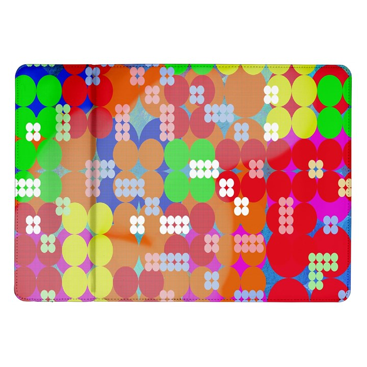 Abstract Polka Dot Pattern Samsung Galaxy Tab 10.1  P7500 Flip Case