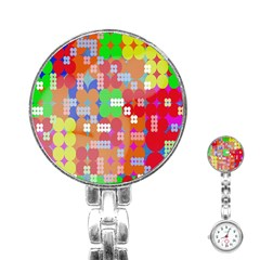 Abstract Polka Dot Pattern Stainless Steel Nurses Watch by Nexatart