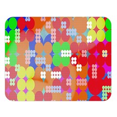 Abstract Polka Dot Pattern Double Sided Flano Blanket (large)  by Nexatart