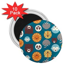 Animal Pattern 2 25  Magnets (10 Pack)  by Nexatart