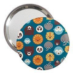 Animal Pattern 3  Handbag Mirrors by Nexatart