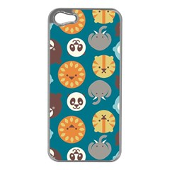 Animal Pattern Apple Iphone 5 Case (silver) by Nexatart