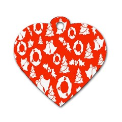 Backdrop Background Card Christmas Dog Tag Heart (one Side) by Nexatart