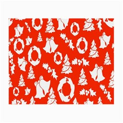 Backdrop Background Card Christmas Small Glasses Cloth (2-side) by Nexatart