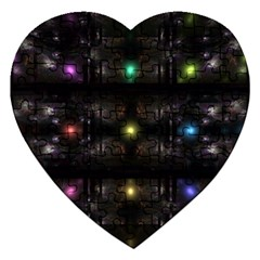Abstract Sphere Box Space Hyper Jigsaw Puzzle (heart) by Nexatart