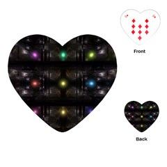 Abstract Sphere Box Space Hyper Playing Cards (heart)