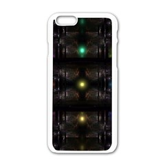 Abstract Sphere Box Space Hyper Apple Iphone 6/6s White Enamel Case by Nexatart