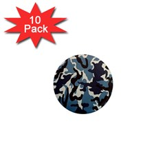 Blue Water Camouflage 1  Mini Magnet (10 Pack)  by Nexatart