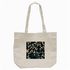 Blue Water Camouflage Tote Bag (cream) by Nexatart