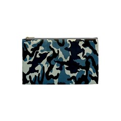 Blue Water Camouflage Cosmetic Bag (small)  by Nexatart