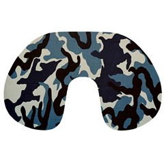 Blue Water Camouflage Travel Neck Pillows by Nexatart