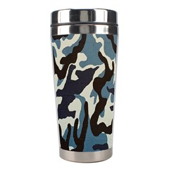 Blue Water Camouflage Stainless Steel Travel Tumblers by Nexatart
