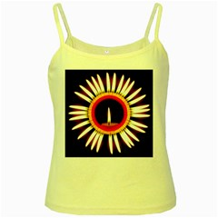 Candle Ring Flower Blossom Bloom Yellow Spaghetti Tank by Nexatart