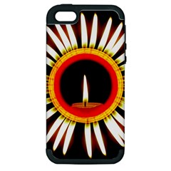 Candle Ring Flower Blossom Bloom Apple Iphone 5 Hardshell Case (pc+silicone) by Nexatart