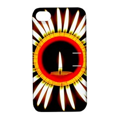 Candle Ring Flower Blossom Bloom Apple Iphone 4/4s Hardshell Case With Stand by Nexatart