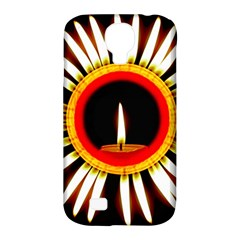 Candle Ring Flower Blossom Bloom Samsung Galaxy S4 Classic Hardshell Case (pc+silicone) by Nexatart