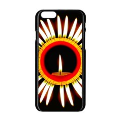 Candle Ring Flower Blossom Bloom Apple Iphone 6/6s Black Enamel Case by Nexatart