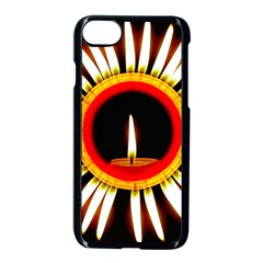 Candle Ring Flower Blossom Bloom Apple Iphone 7 Seamless Case (black) by Nexatart