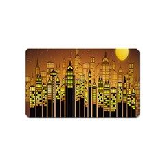 Buildings Skyscrapers City Magnet (name Card)