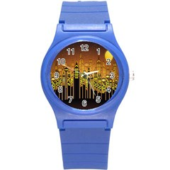 Buildings Skyscrapers City Round Plastic Sport Watch (s)