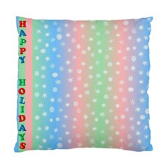 Christmas Happy Holidays Snowflakes Standard Cushion Case (two Sides)