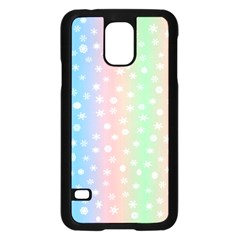 Christmas Happy Holidays Snowflakes Samsung Galaxy S5 Case (black) by Nexatart