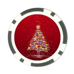 Colorful Christmas Tree Poker Chip Card Guard (10 Pack) by Nexatart
