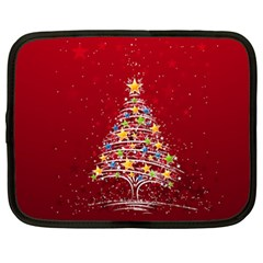 Colorful Christmas Tree Netbook Case (xxl)  by Nexatart