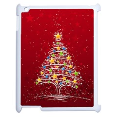 Colorful Christmas Tree Apple Ipad 2 Case (white)